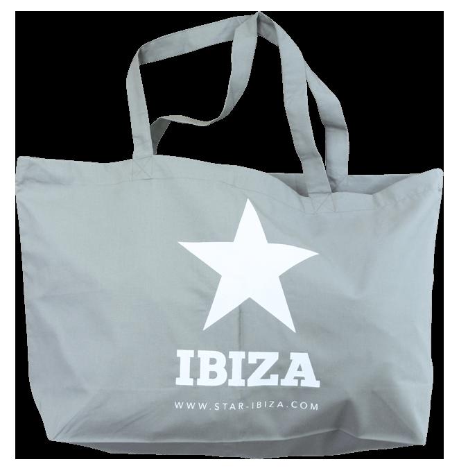 Linnen shopper met ibiza en ster print
