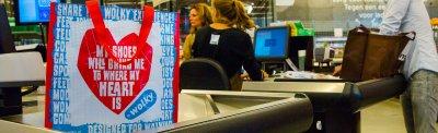 boodschappentas bedrukt en onbedrukt