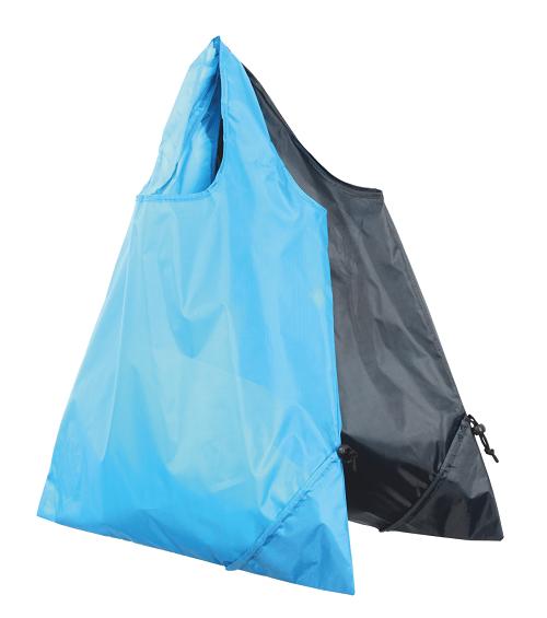 Opvouwtasje nylon opvouwbaar zwart blauw