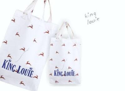 Bedrukte katoenen tas van King Louie